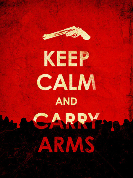 Keep Calm And Carry Arms by Leon Greiner
