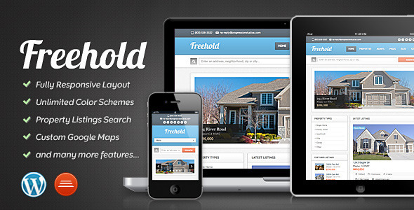 00 freehold preview   large preview1 40 Retina Ready Premium Wordpress Themes