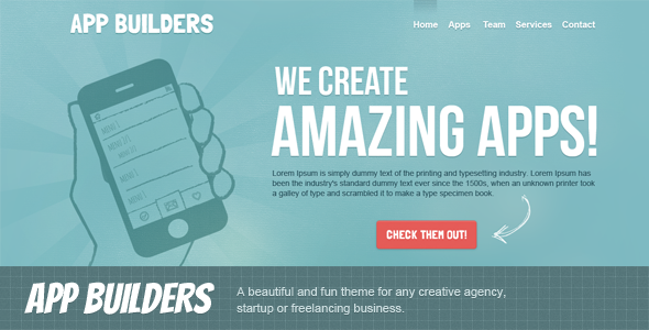 00 appbuilders preview 590   large preview1 25 Premium Corporate PSD Templates