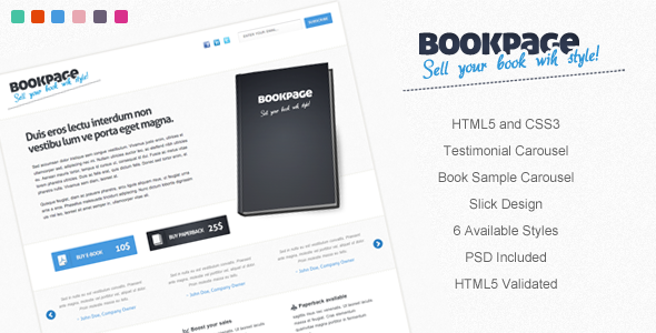 01 bookpage   large preview1 30 Premium Landing Pages to Boost Your Conversion
