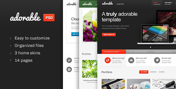 01 preview large   large preview1 25 Premium Corporate PSD Templates
