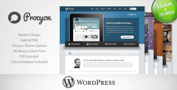 01 procyon preview   large preview1 40 Retina Ready Premium Wordpress Themes