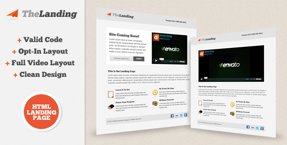 01 the landing   large preview1 30 Premium Landing Pages to Boost Your Conversion