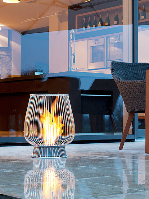 Bulb Fireplace by EcoSmart Fire - 30 Awesome Outdoor Fireplace & Fire Pit Designs Inspirationfeed