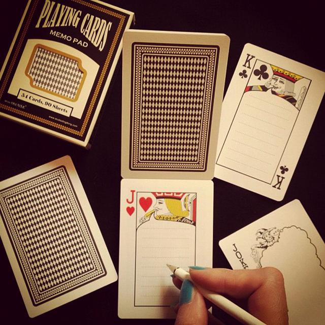 Playing Cards Memo Pad by Studio Ding Dong