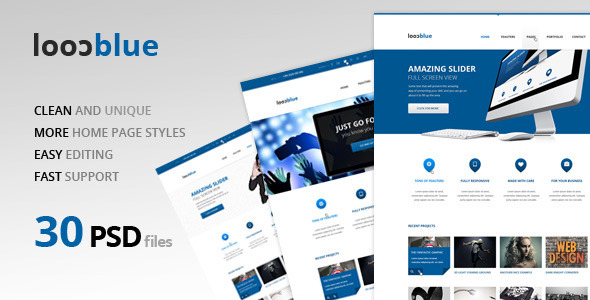 1 big thumbnail   large preview1 25 Premium Corporate PSD Templates