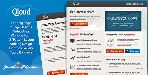 1 preview   large preview1 30 Premium Landing Pages to Boost Your Conversion