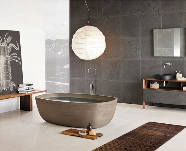 Inkstone Bathtub by Neutra