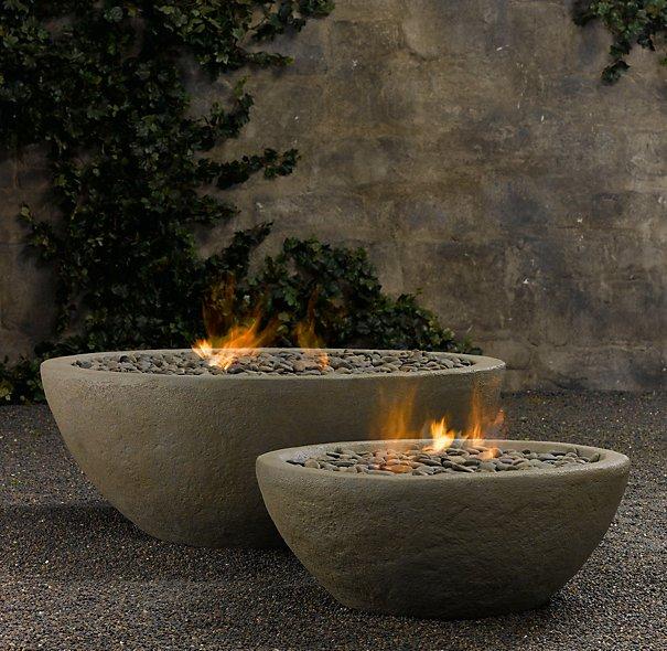River Rock Fire Bowls