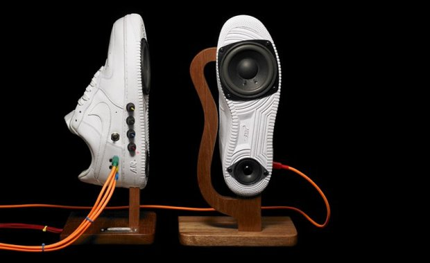 Homemade Speaker Designed in Nike air