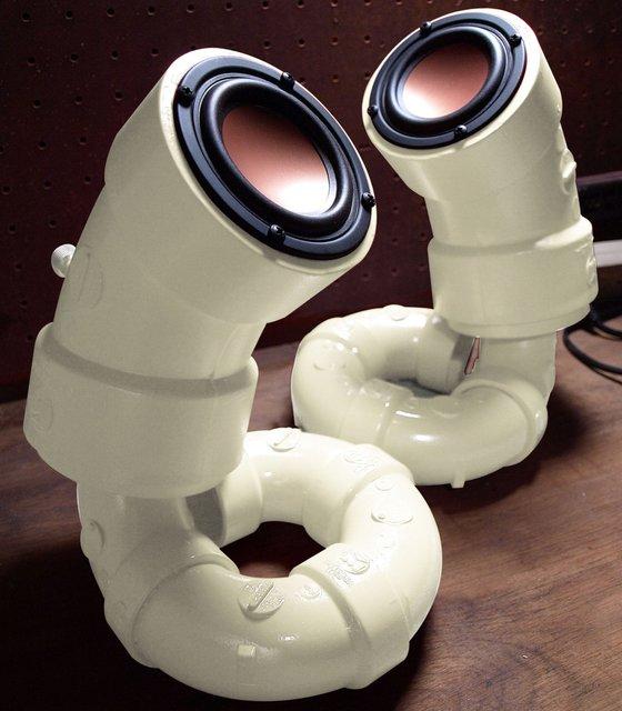 Ikyaudio White Sea Cucumber Audio Speakers