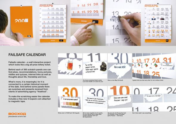 4 25 of the Most Innovative Calendar Designs