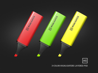 Highlighters Free Layered PSD by Alexander Gritsenko
