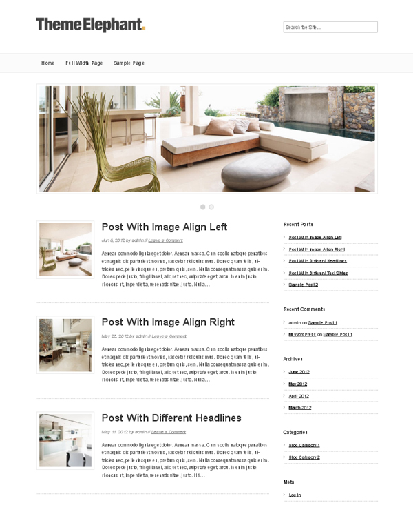 aselia Top Free WordPress Themes of 2012