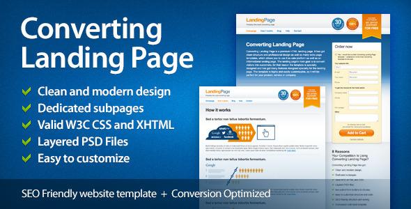 Converting Landing Page