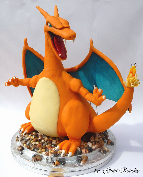 charizard pokemon character cake by ginas cakes d41ybd51 Top 30 Realistic Cake Designs