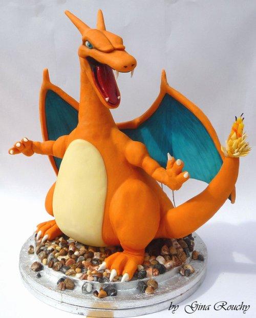 Charizard Pokemon Character Cake