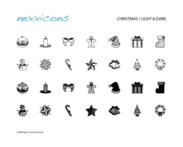 Christmas Icons by Lukas Hillebrand