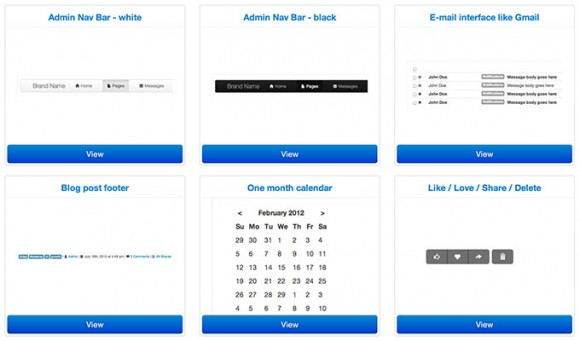 Boot snipp – CSS code snippets for Bootstrap