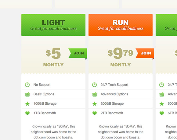 css3 pricing tables tutorial1 30 Free Intuative CSS Snippets