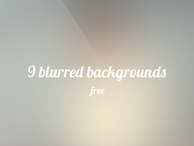 9 free blurred backgrounds