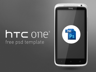 HTC One X Free PSD Template