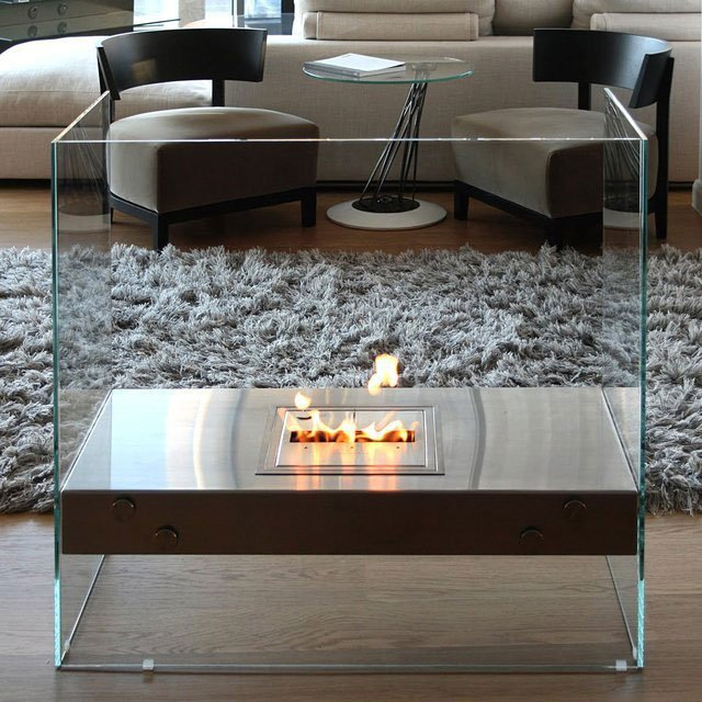 EcoSmart Igloo Ventless Glass Fireplace
