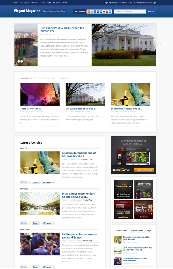 elemag Top Free WordPress Themes of 2012