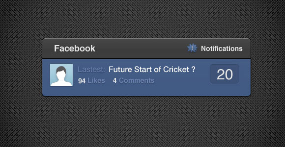 facebook notification widget css psd1 30 Free Intuative CSS Snippets