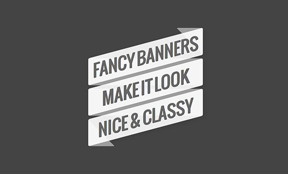 Fancy Banners CSS3