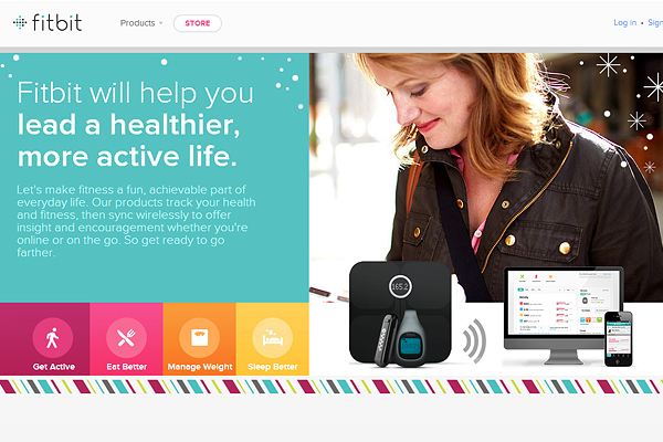 fitbit Creative Approach to Using Web Icons and Graphic Symbols in Web Design