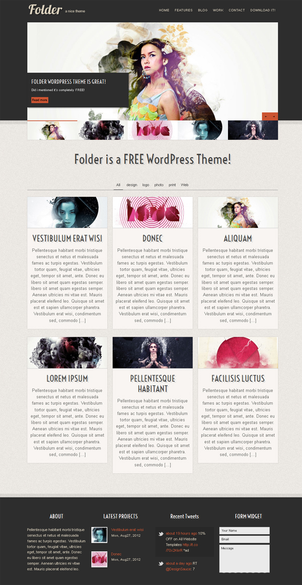 folder Top Free WordPress Themes of 2012