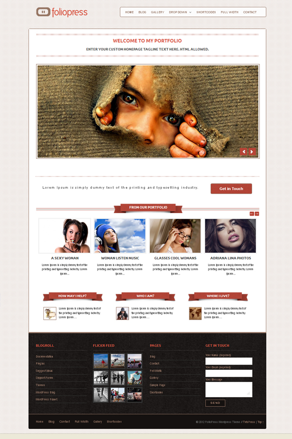 foliopress Top Free WordPress Themes of 2012