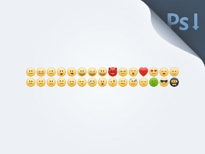 Emoticons (PSD Freebie) by Shota