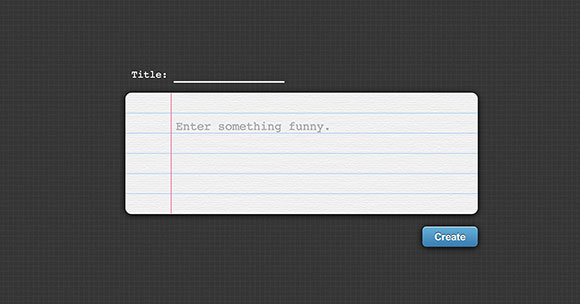 A fun text box made of CSS jQuery