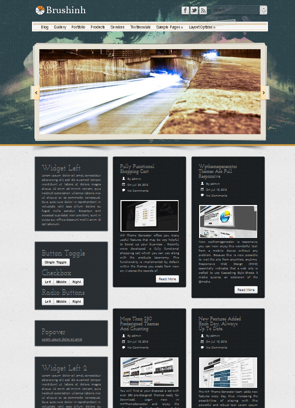 grid layout Top Free WordPress Themes of 2012