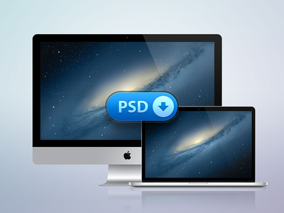 [PSD] iMac + MacBook Retina by Jozef Mak