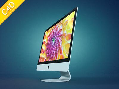 iMac model for Cinema 4D