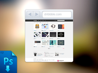 Mini Browser - FREE PSD by Thibaut Vanden-Dorpe