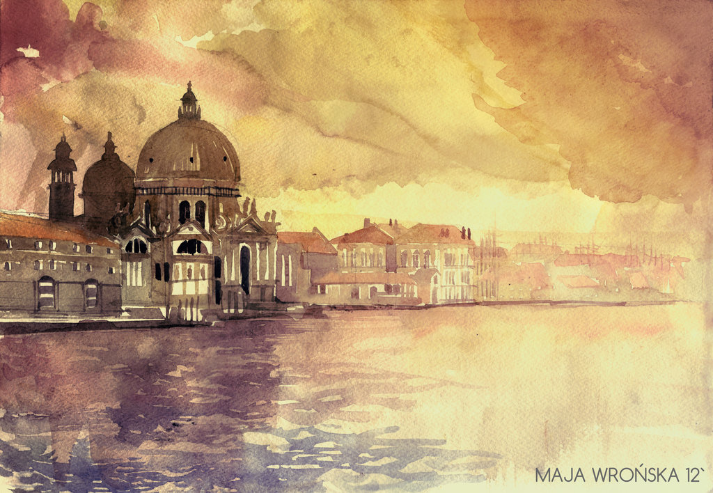 morning in venezia by takmaj d5frgja1 Watercolor Wonders by Maja Wronska