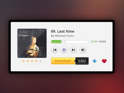 Music Player Freebies by Sunil Joshi