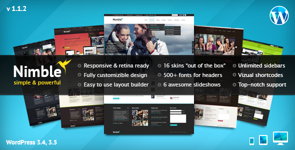 nimble img   large preview1 40 Retina Ready Premium Wordpress Themes