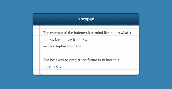 notepad free css snippet1 30 Free Intuative CSS Snippets