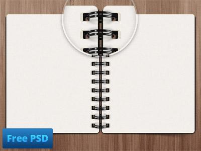 Notepad Free Psd by Rob Marshall