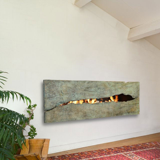 Patinaed Metal Fireplace by CF + D