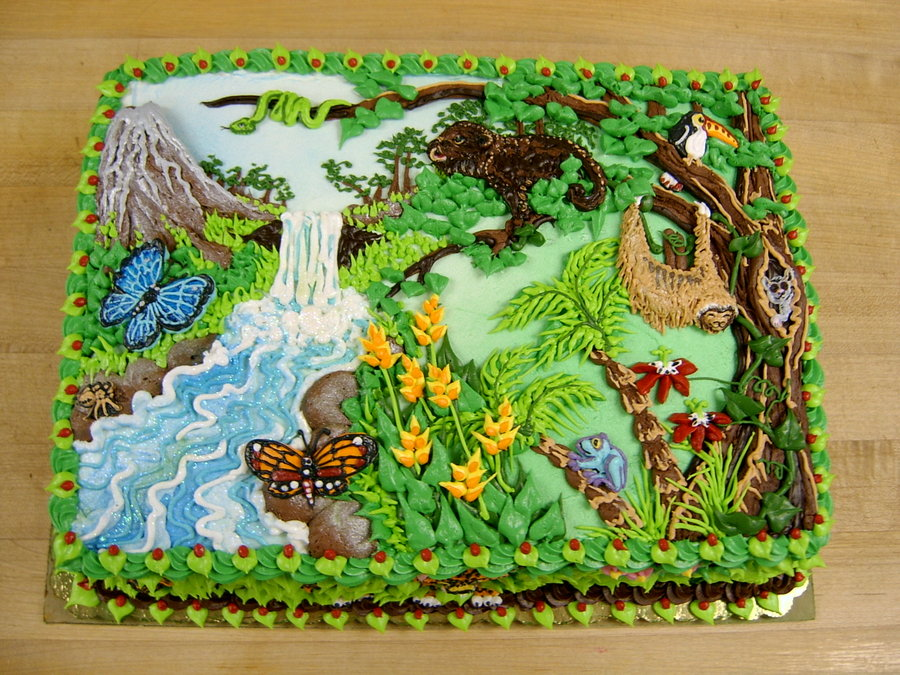 rainforest cake by the evil plankton1 Top 30 Realistic Cake Designs