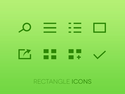 Rectangle Icons by Diego Margini