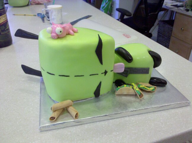 Sculpted GIR Cake