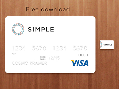 Simple Bank Card Download by Mathew Sisson