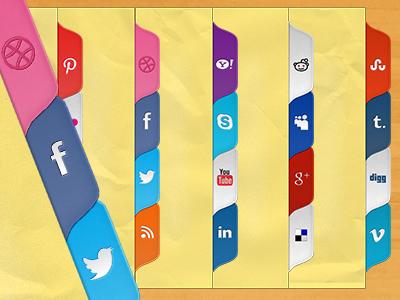 Free Social media tabs by Mirona TARTAN